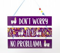 3 Tier Purple Llama Plaque